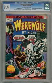 Werewolf By Night #32 1975 CGC 9.4 1st Appearance Moon Knight Marvel comic book